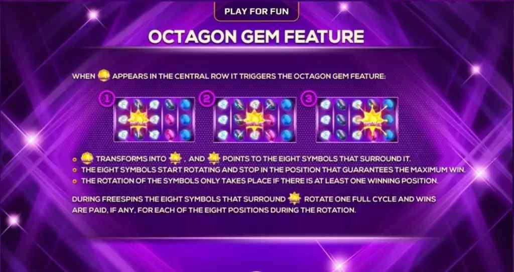 ฟีเจอร์ของเกม Octagon Gem Jack88