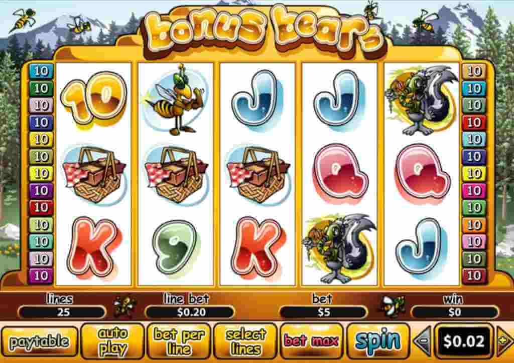 ภาพโดยรวมในเกม Bonus Bears Jack88