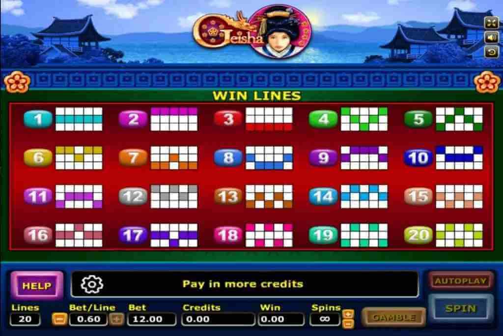 ไลน์ของเกม Geisha Jack88