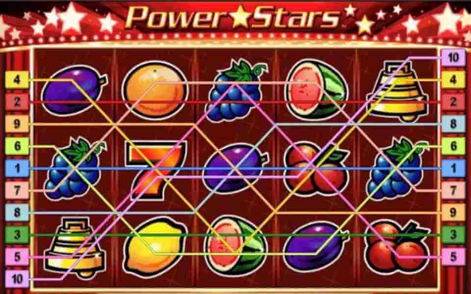 ไลน์ต่างๆของเกม Power Stars Jack88
