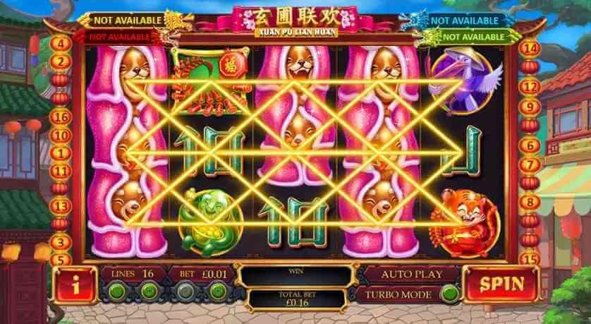 ไลน๋ต่างๆในเกม Xuan Pu Lian Huan Jack88