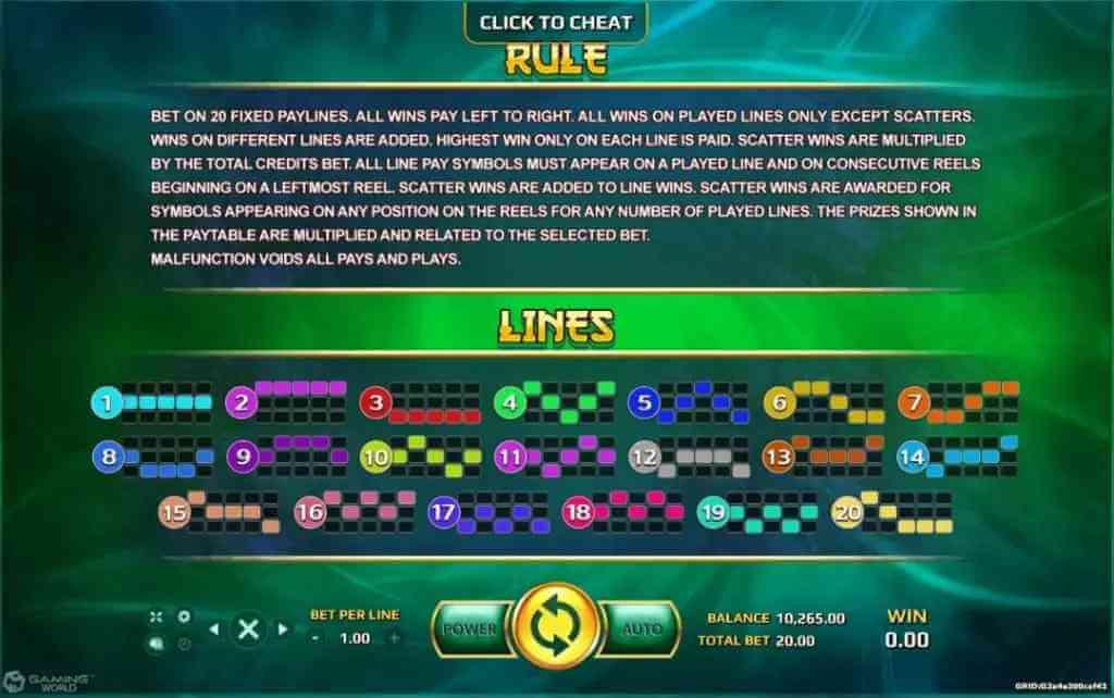 กฎกติกาในการเล่น Bagua Jack88