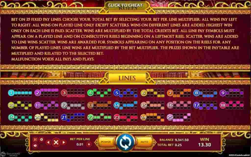 กฏกติกาภายในเกม Lions Dance Jack