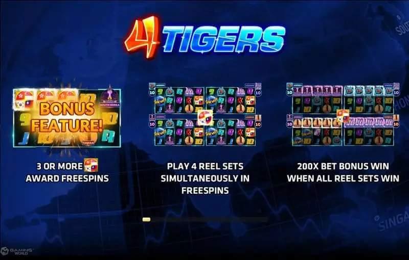 รีวิวเกม 4 TIGERS Jack88
