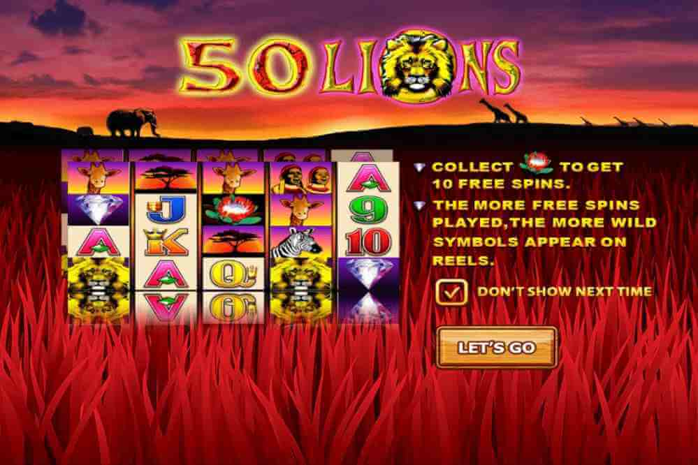 สัญลักษณ์ในเกม 50 lions Jack88