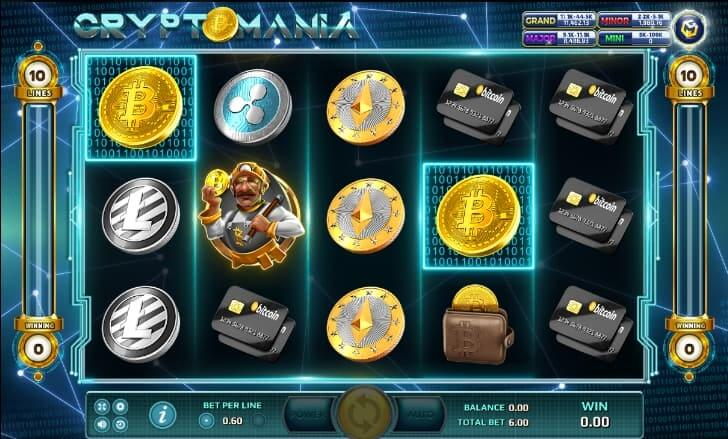 สัญลักษณ์ต่างๆภายในเกม CRYPTOMANIA JACK88