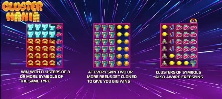 สัญลักษณ์ต่างๆในเกม Cluster Mania Jack88