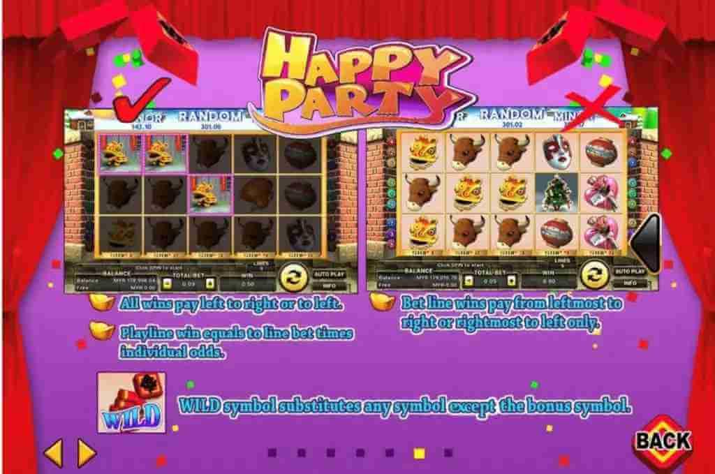 ไวด์ของเกม Happy Party Jack88