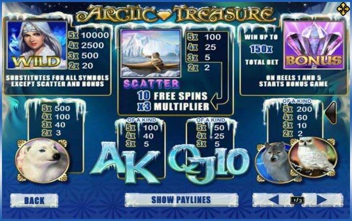 Arctic Treasure สูตรโกงเกม Slot เกมบาคาร่า https://jack88tm.vip/