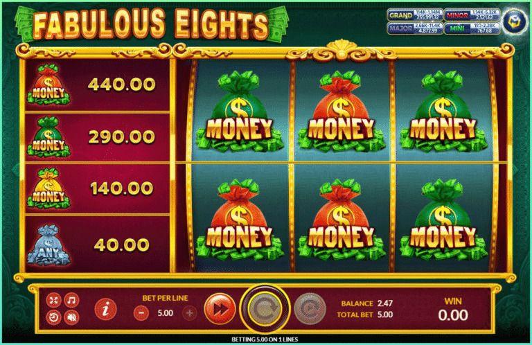 Fabulous Eights เกมส์ slot แจก https://jack88tm.vip/