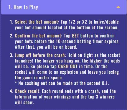 Cash Or Crash รายละเอียดวิธีการเล่น