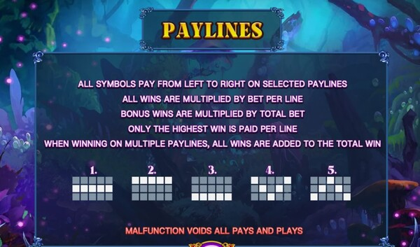 Wizard Paylines