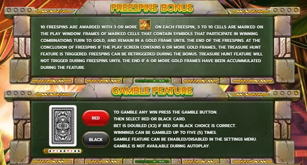 Freespins Bonus & Gamble