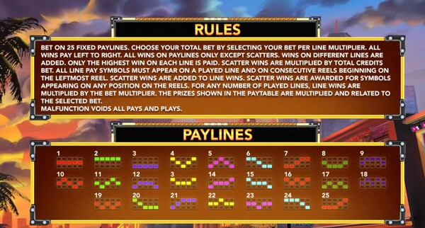 Rules & PayLines